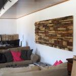 Pareti in legno per arredamento