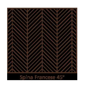 Parquet Spina Francese 45°